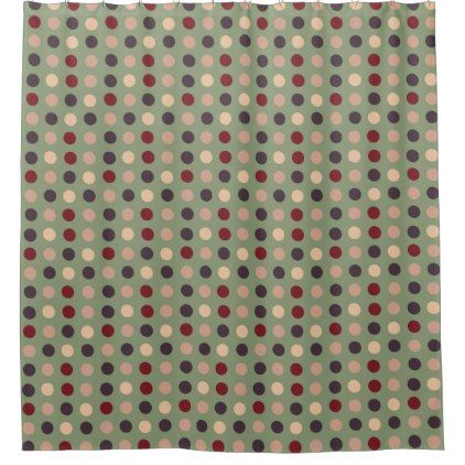 grey beige burgundy eggs on green shower curtain - shower curtains home decor custom idea personalize bathroom