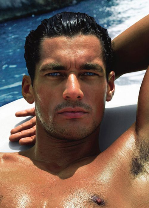 David Gandy, a model who was an inspiration for Baron Caxton in Miss Darcy Falls in Love