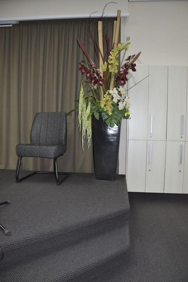Stage Arrangement Bamboo, Cymbidium Orchids