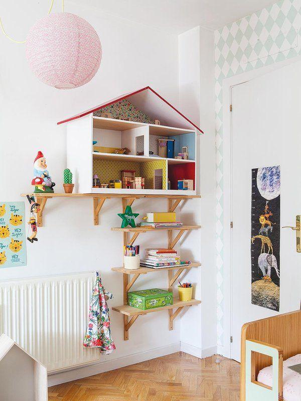 ¡El #dormitorio más divertido! Con muebles a medida #infantil #estantería