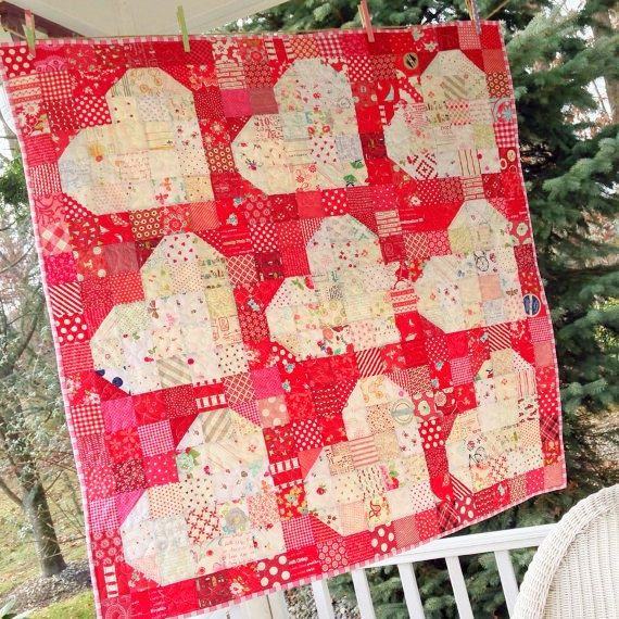Pattern and instructions to create this 40 square quilt. Designed by Christina Egner @ Emily Anns Kloset JUST FOR YOU!    This is a paper copy and will be mailed to you......please purchase from my other listing if you prefer an instant download.