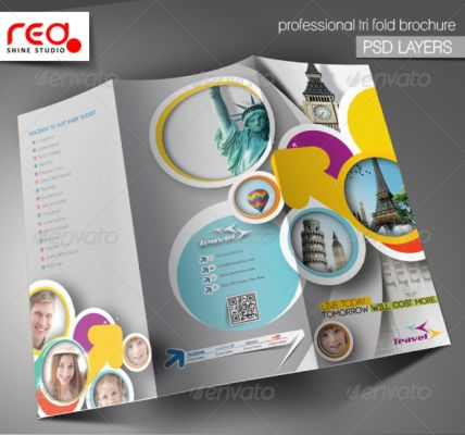 21 best 25+ Travel Brochure Template PSD, AI and InDesign Format - advertising brochure template