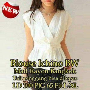 Blouse Ichino BW MTFA06