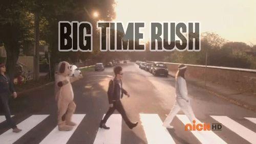 Big Time Rush Abbey Road walk on Big Time Movie