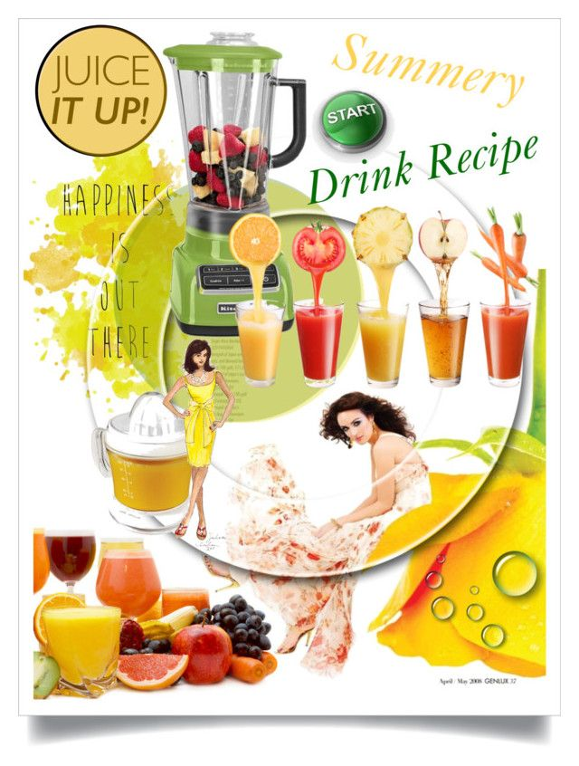 Summery Drink Recipe - Juice It Up! by betiboop8 on Polyvore featuring interior, interiors, interior design, home, home decor, interior decorating, Hamilton Beach, KitchenAid and juiceitup