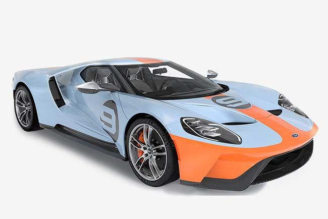 2019 Ford Gt Heritage Edition Honors The Iconic Gulf Livery Ford Gt Gulf Ford Gt 2019 Ford