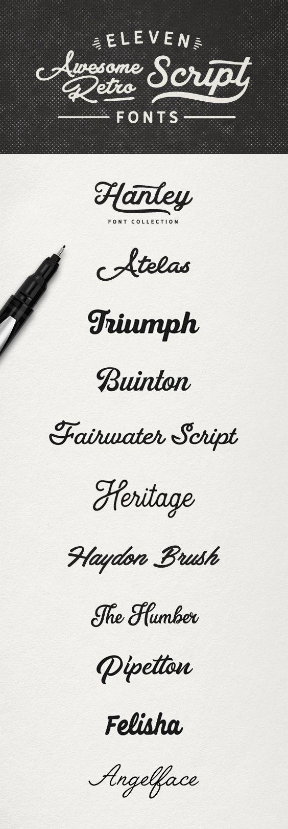 Awesome Retro Script Fonts Fonts. Script, retro, branding, vintage, script font, typography, logo, lettering,