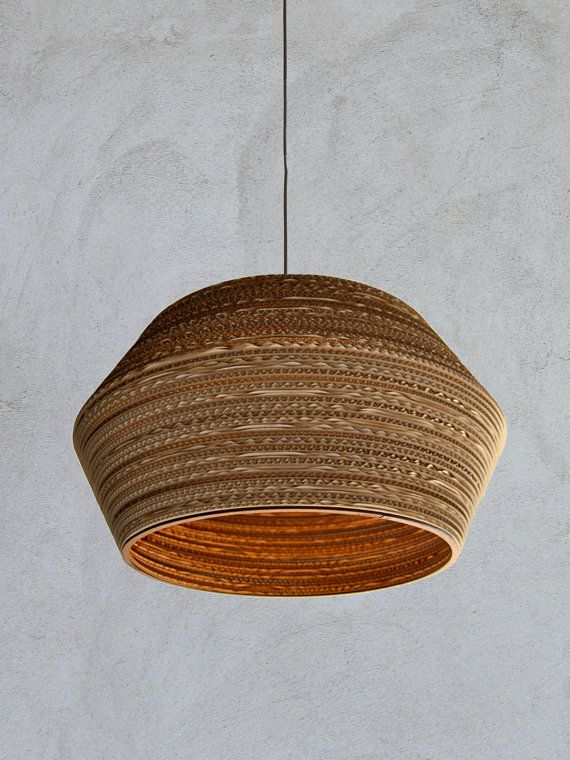 cardboard lampshade Disco 60 by casador on Etsy