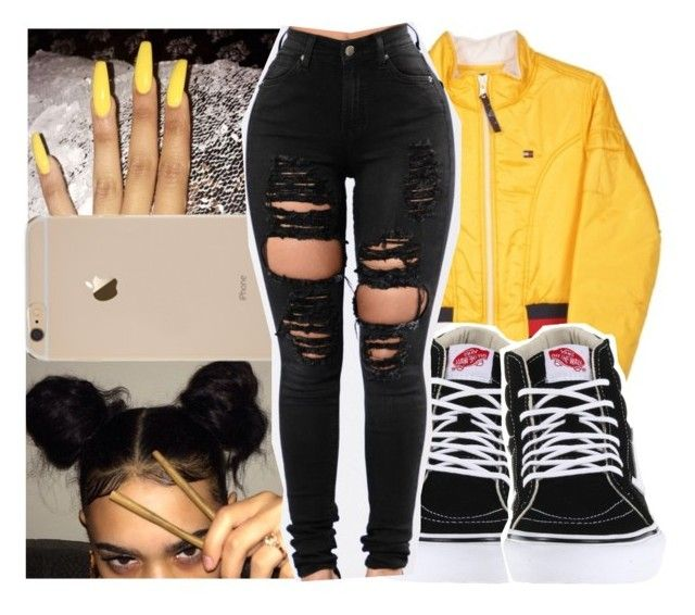 """""""O7•24•2O17"""" by arionce ❤ liked on Polyvore featuring Tommy Hilfiger and Vans"""