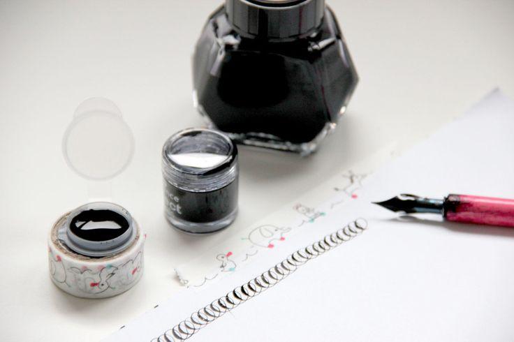 Calligrafia e macchie d'inchiostro: consigli per tenere le mani pulite   Vasetti e vasetti di riciclo per inchiostro  callicarta.it