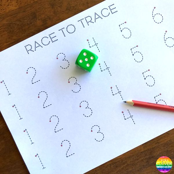 Simple Maths Games To Play Together - grab these FREE printable games to play at school or at home to improve young children's maths skills | you clever monkey