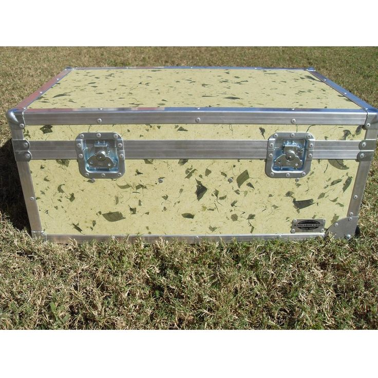 Go Green Large ATA College Footlocker with Recessed Wheels and Tray | FREE SHIPPING