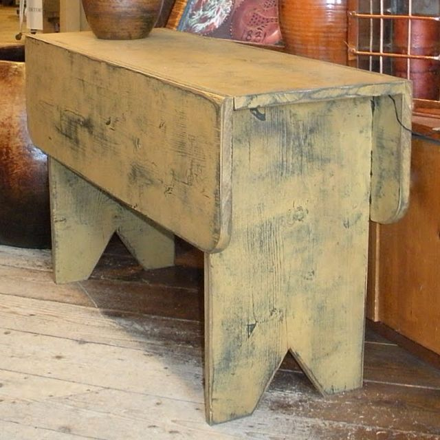 Country Bucket Bench. Simple Design, So Practical