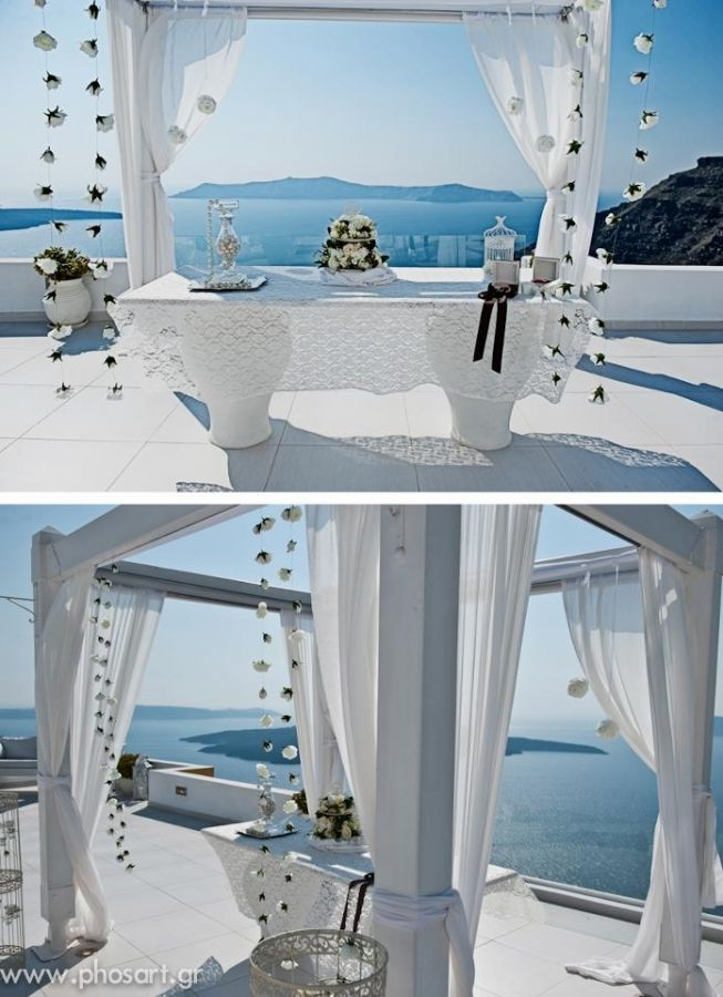 "Flower Creations and Decoration: ''Wedding Wish Santorini'' (http://www.facebook.com/SantoriniFlowersAgrokipio)-  Wedding Planner: ""Poema Weddings"""