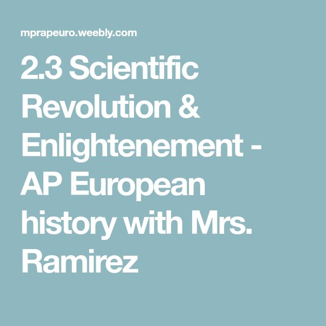 scientific revolution ap euro From a general summary to chapter summaries to explanations of famous quotes, the sparknotes the scientific revolution (1550-1700) study guide has everything.