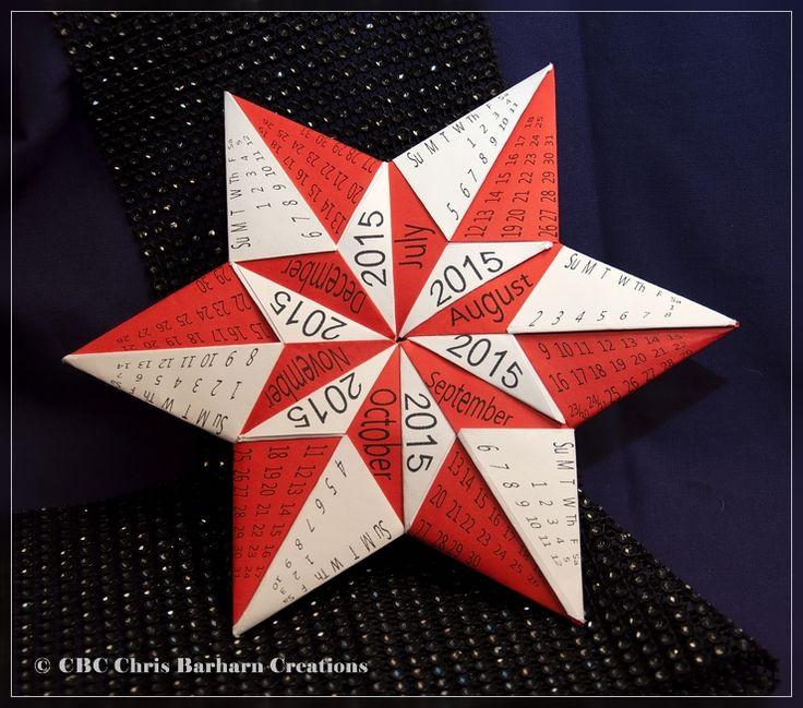 Kalendarium 2015 nach dem Stern von Carmen Sprung: Stern Mennorode.  Folder and Photograph Chris Barharn Creations
