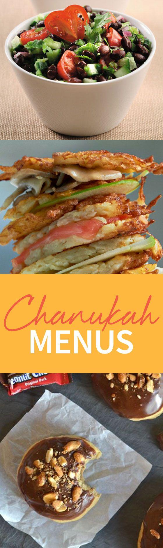 Full menus, recipe, and decorations--we have it all! Follow our Chanukah Menu this year! http://www.joyofkosher.com/tag/chanukah-menus/
