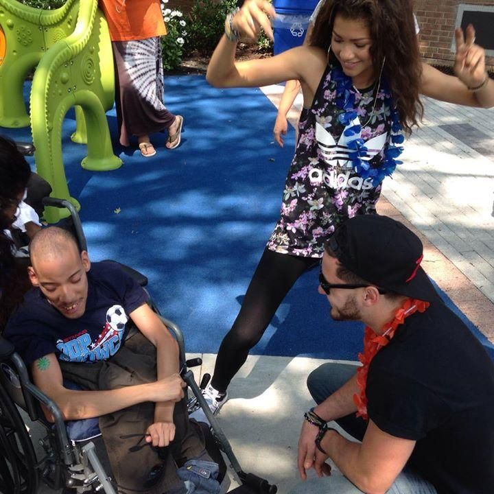 Zendaya and Val at Camp T.L.C. for St. Mary's Hospital for Children 2014 (July 23rd)