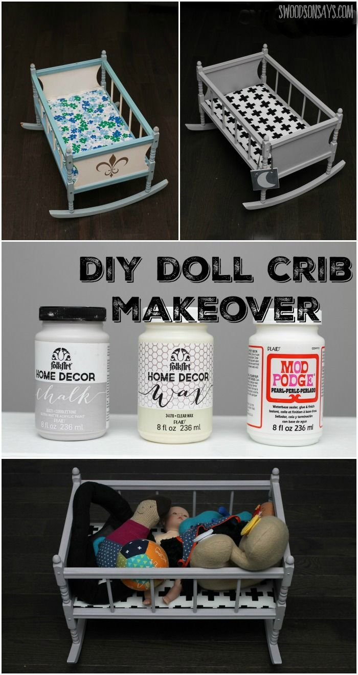 Used crib for sale edmonton - A Diy Crib Doll Makeover With Chalk Paint And Mod Podge Pearl Swoodsonsays Com