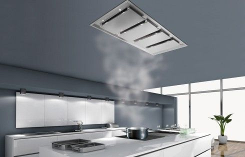 The Inart 4M is designed for the most demanding semi-professional kitchens. With its generous dimensions and coherent power, it is the ideal ceiling rangehood for kitchens with large cooking areas. #designerrangehood #rangehood #design
