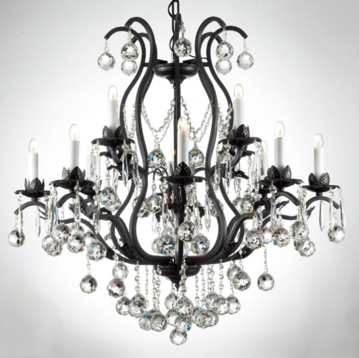 12 best how to fit a black and white chandelier into interior images charming black and white crystal chandelier aloadofball Images