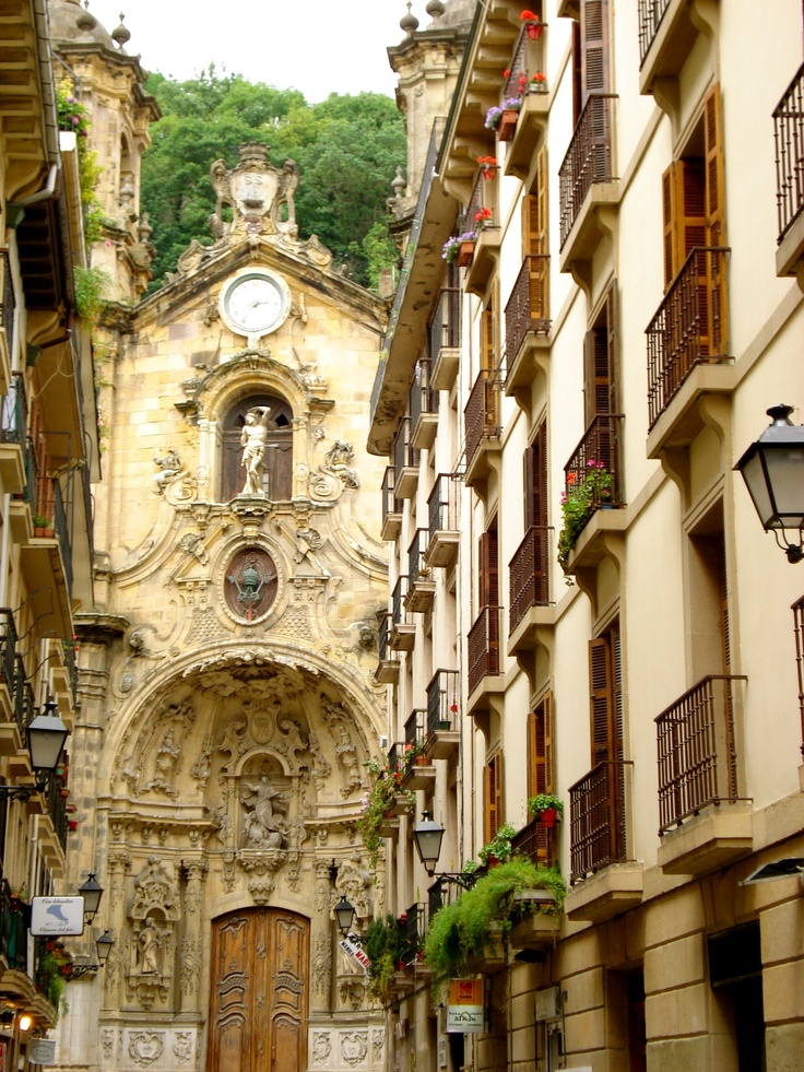 The streets of San Sebastian, Spain--What a charming city this was...with great food! And we arrived during their jazz festival. Put it on your list!