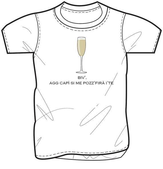 T- shirt con stampa di Gomorra la serie. Biv' agg capì si me pozz' firà i' te