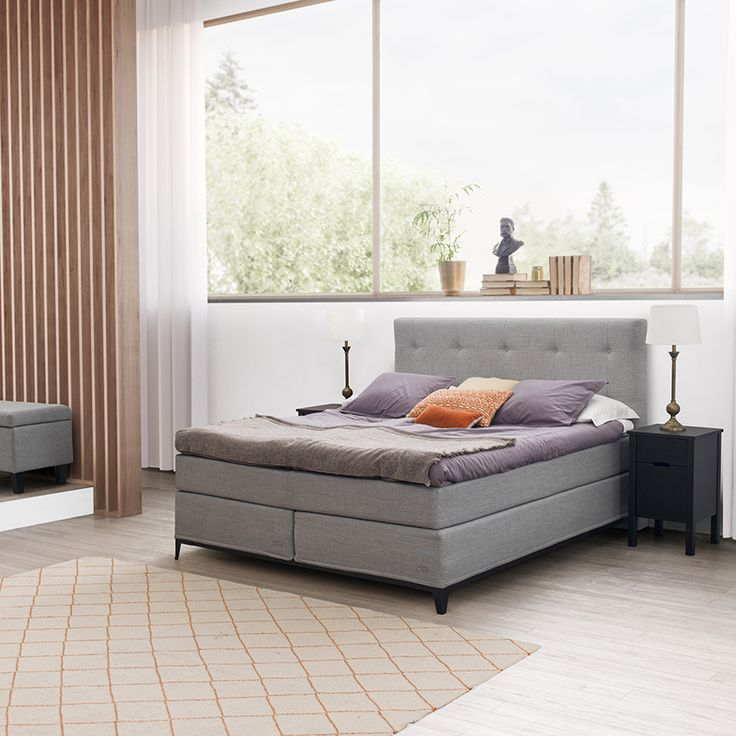Jensen Carat Continental bed set with steel bedbase.