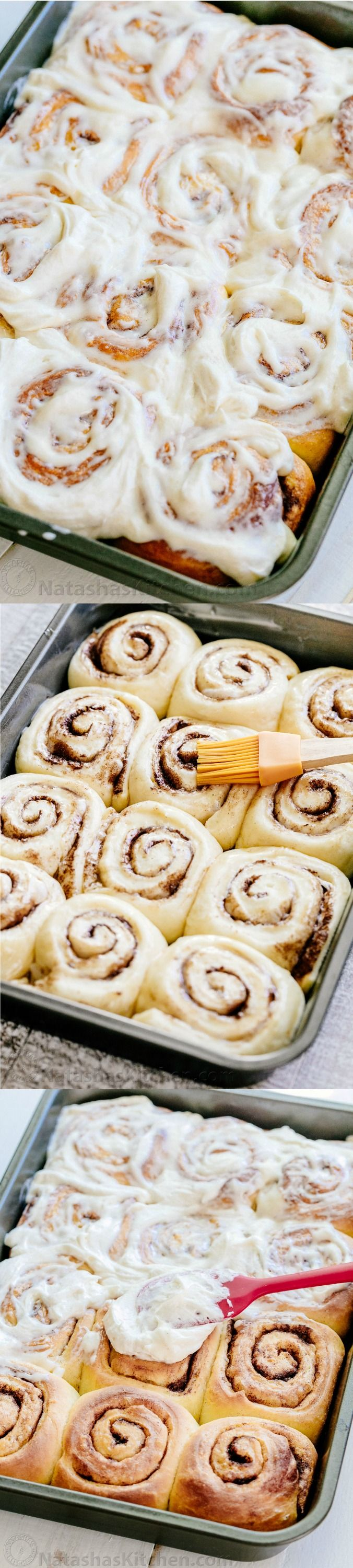 Melt-in-you-mouth overnight cinnamon rolls with whipped cream cheese icing. Perfect for holidays and busy mornings. The best make-ahead cinnamon rolls!
