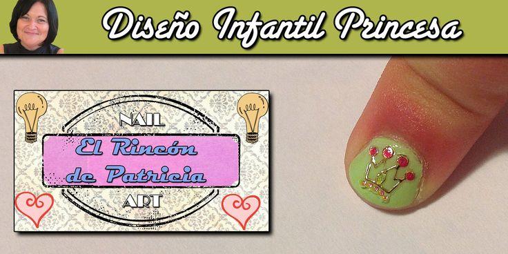 Diseño de uñas de princesa de El rincón de Patri Nail Art. Sigue todos nuestros diseños de decoración de uñas en http://www.rincondepatri.com Princess Nail Art