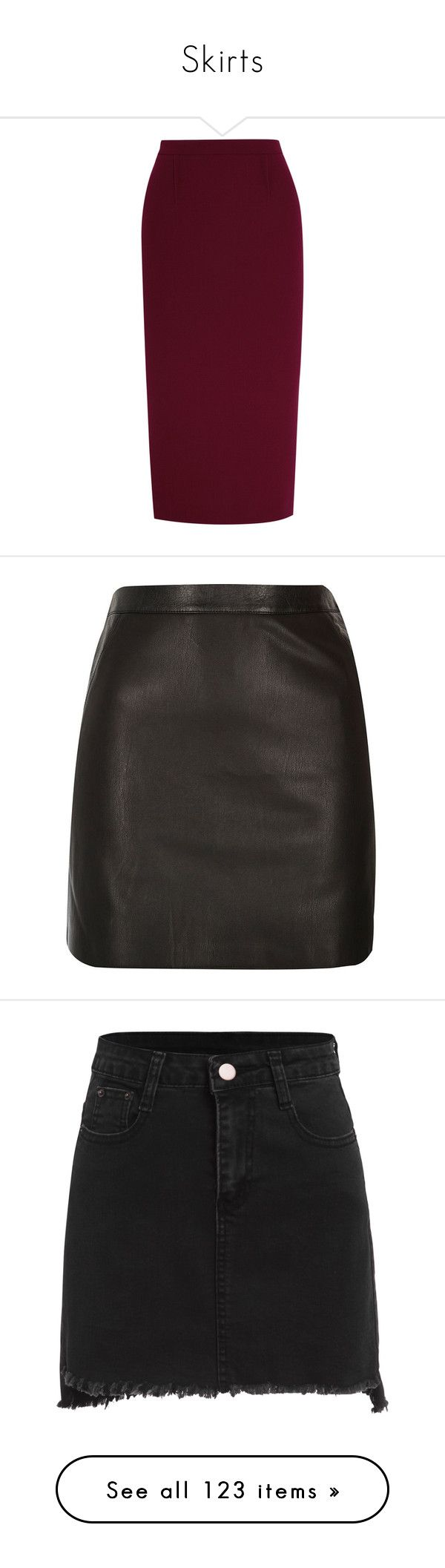 """""""Skirts"""" by boiteasecrets ❤ liked on Polyvore featuring skirts, suits, bottoms, pencil skirt, saias, foldover skirts, zipper skirt, zipper pencil skirt, purple pencil skirt and roland mouret"""