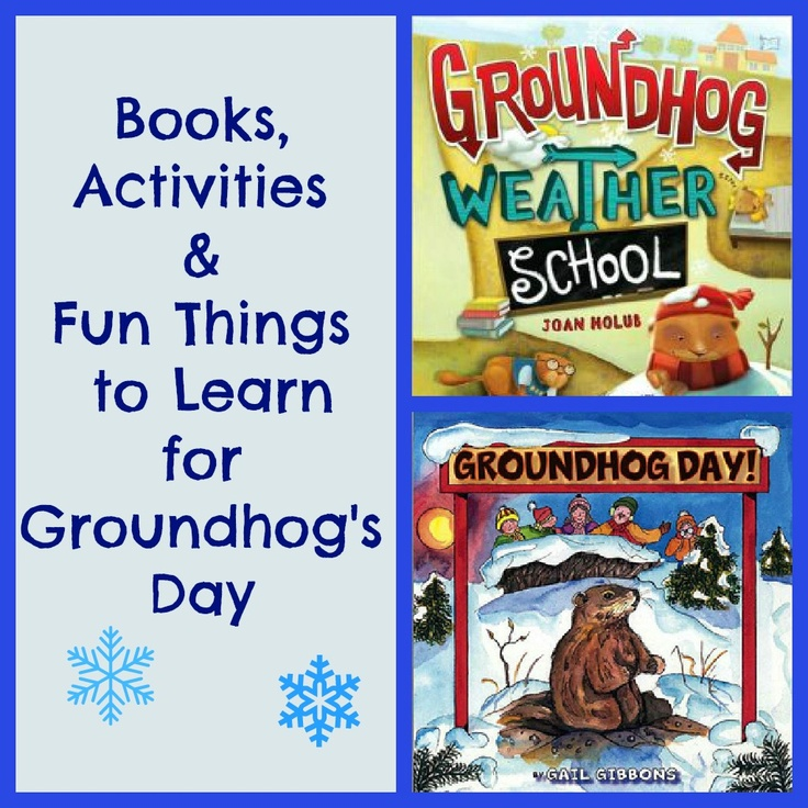 Shadow activities, weather prediction & fun books to celebrate Groundhog's Day!