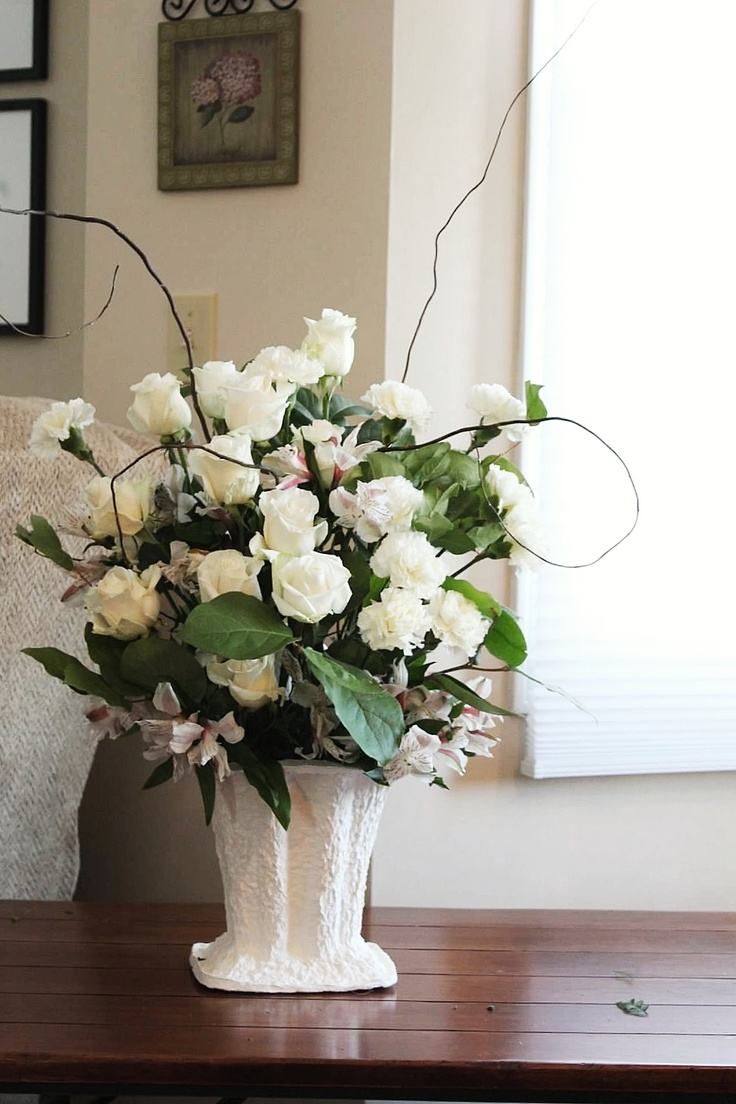 41 best funeral baskets images on pinterest floral arrangements white sympathy basket izmirmasajfo Gallery