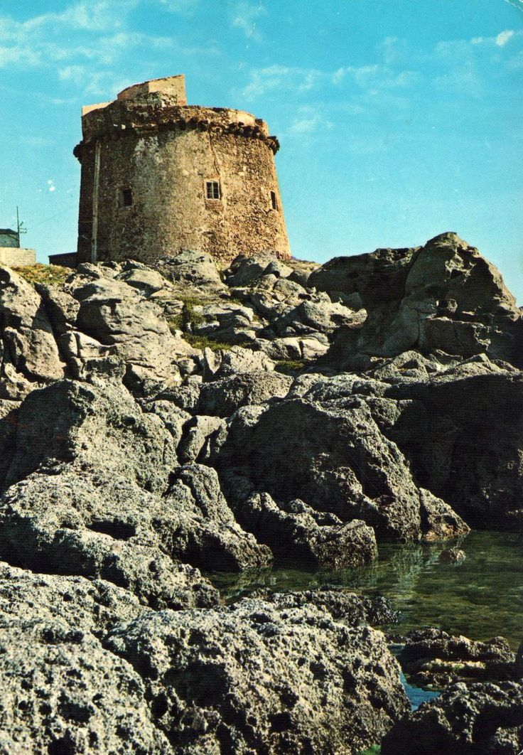Portoscuso (Cagliari) Torre Cartolina viaggiata, 1979