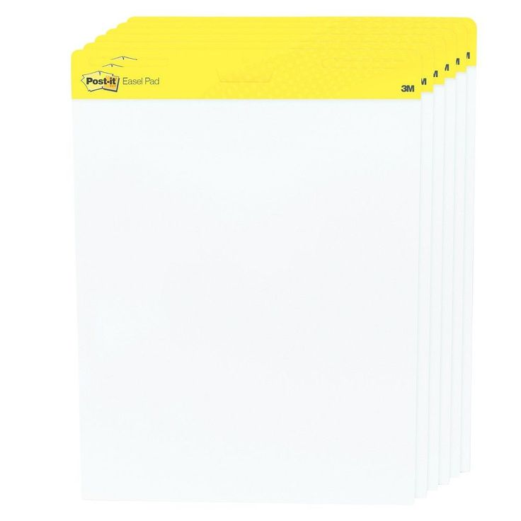 "Post-it Easel Pads Self-Stick Easel Pads (25""x30"") White, 30-Sheet Pads/Carton"