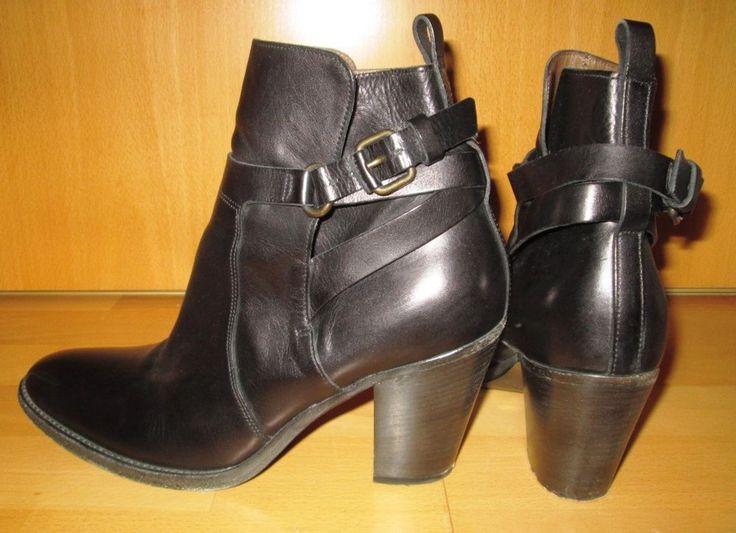 * * * SARTORE Stiefeletten schwarz, Gr.39,5 * * * | eBay