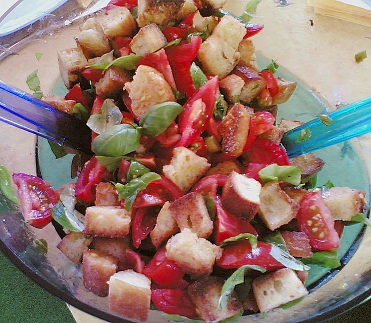 Italienischer Tomaten - Brot - Salat Bruschetta als Salat