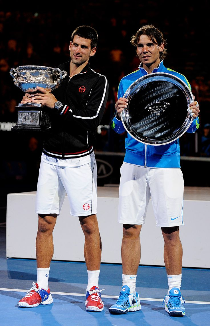 Nole and Rafa.  Australian Open, January 2012.  #tennis