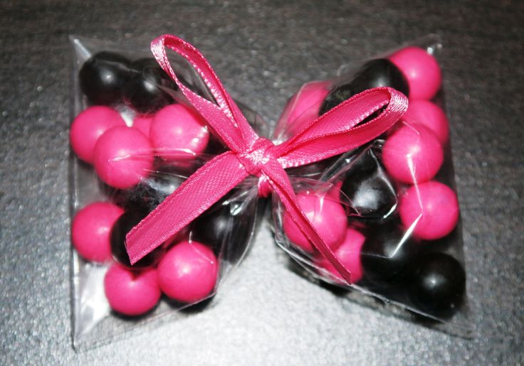 Hot Pink Black Bow Favors Princess Party Punk Princess Minnie Mouse Favors Girls Birthday Party Favors Hello Kitty Favor Monster High. $15.00, via Etsy.