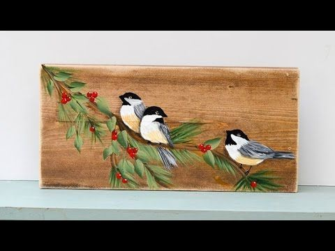 Learn How to Paint a Chickadee Bird - Flower Patch Farmhouse