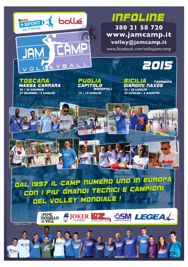 Volley curiosità: porta la tua squadra al jamcamp - Basket e Volley in rete