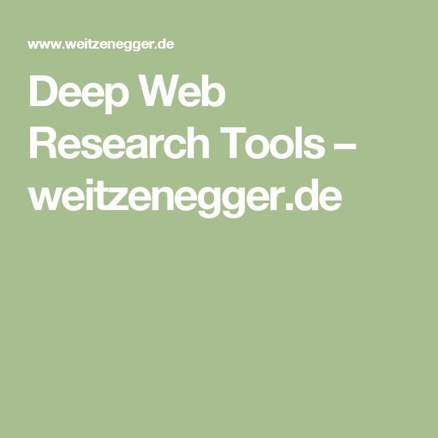 Deep Web Research Tools – weitzenegger.de