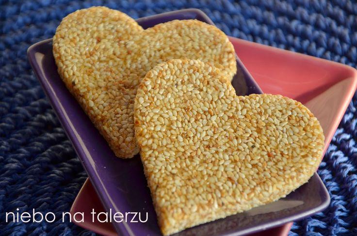 Domowe sezamki na Walentynki #walentynki #love #sezamki #serca #homemade #pycha