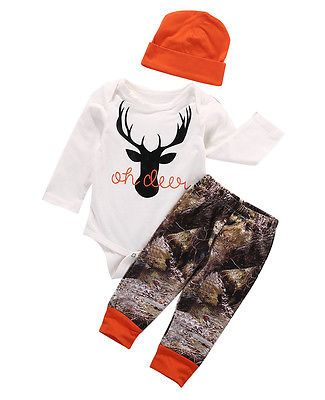 Cheap baby boy clothing, Buy Quality baby boy clothing set directly from China set newborn Suppliers: 2016 Autumn  baby boy clothing sets Newborn Baby Boy Girl Deer Romper Pants Leggings Hat 3pcs Outfits Set Costume