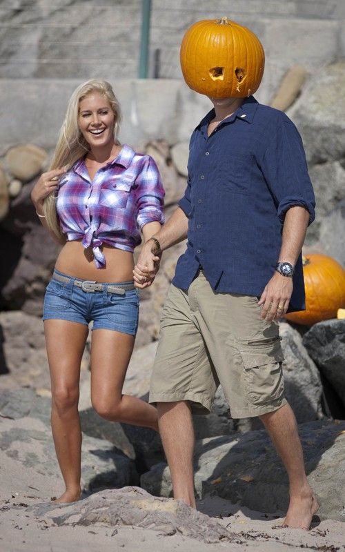 Hills Freak: Heidi Montag and Spencer Pratt's Pumpkin Beach Romp