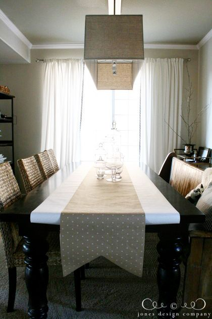 dining room table runner by jones design company