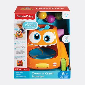 Catch it if you can, baby! For a zooming, spinning, ball-popping good time, the Fisher-Price® Zoom 'n Crawl Monster™ has it all. With two...