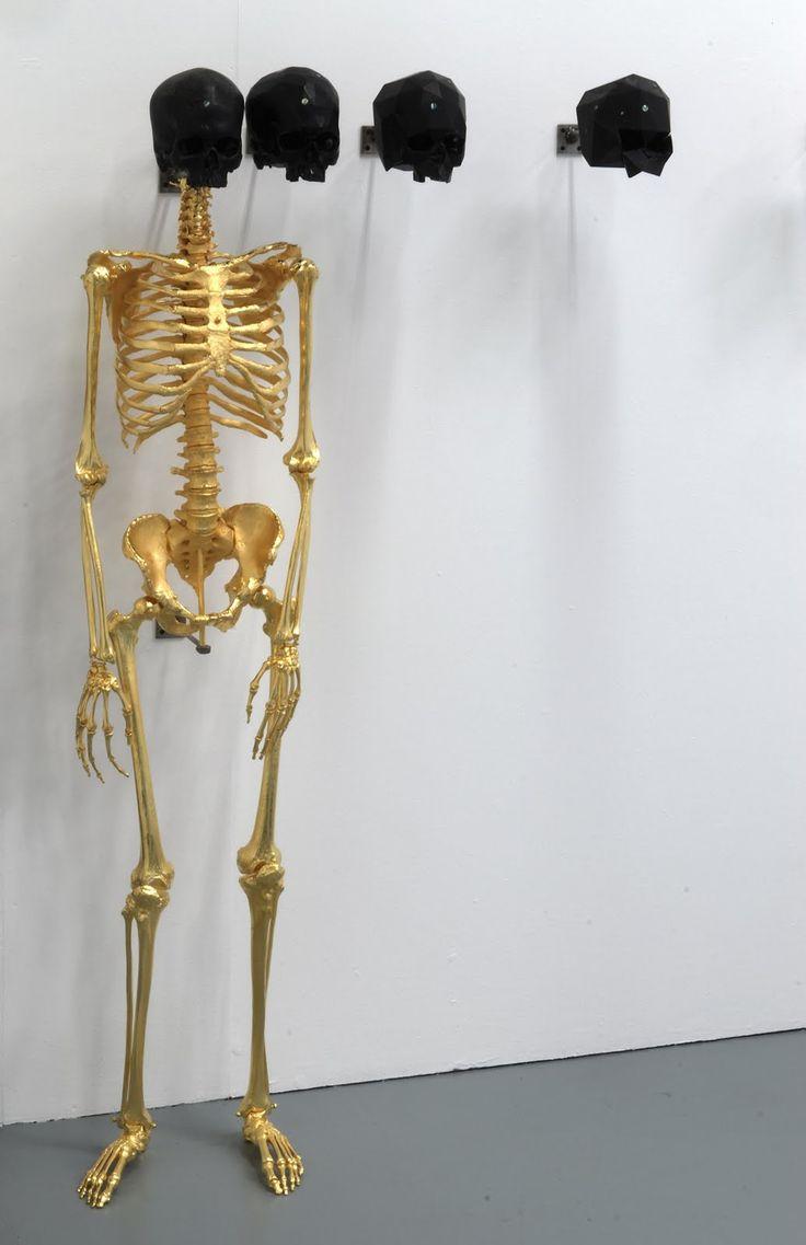 : Golden Skeletons, Jackson, Black Skull, Art, Matthew, Golden Bones, Black Gold, Gold Skeletons, Bones Skull Skeletons