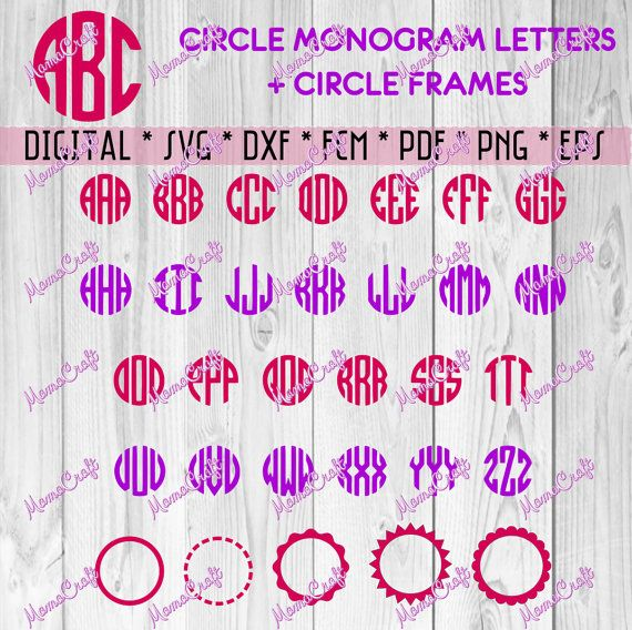 circle monogram svg alphabet cutting file svg by mamacraft4you