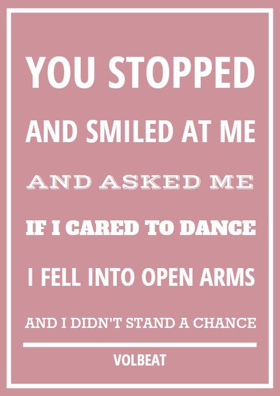 romantische quote Volbeat